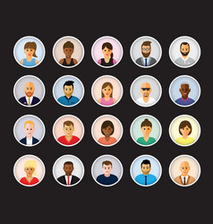People profiles vector