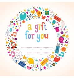 Birthday gift tag vector