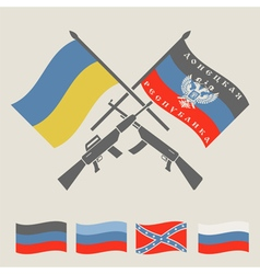 Ukraine and Russia military conflict graphic vector image