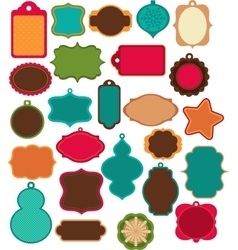 Advent calendar - tags labelselements vector
