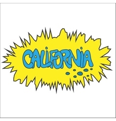 California comic graffity badge vector
