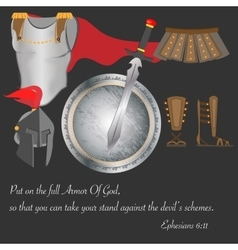 The armor of god christianity warrior faith brave vector