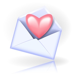 Envelope with valentine heart vector