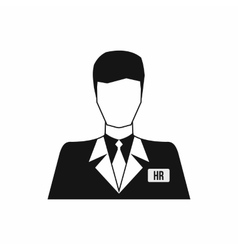 Hr manager icon simple style vector