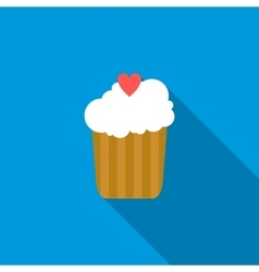 Cupcake icon flat style vector