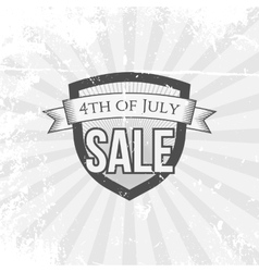 Independence day 4th of july sale festive shield vector