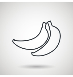 Banana drawing isolated icon design vector