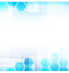 Abstract background light blue and hexagon shapes vector