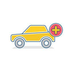 add auto icon car traffic transport vehicle icon vector image