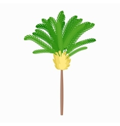 Banana palm tree icon cartoon style vector