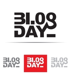 Blog day sign vector
