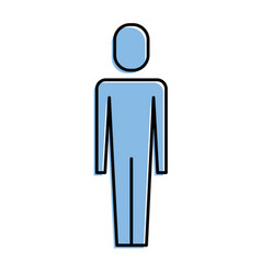 businessman standing male character pictogram vector image