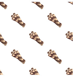 Chocolate wafer straws icon in cartoon style vector
