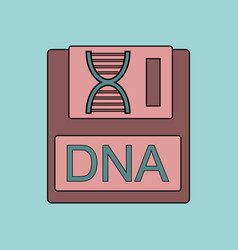 Flat icon design collection dna disk vector