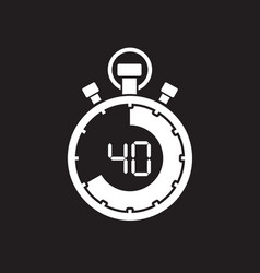 forty minute stop watch countdown vector image vector image