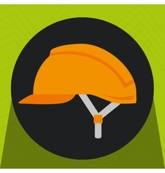 helmet protection industrial icon vector image