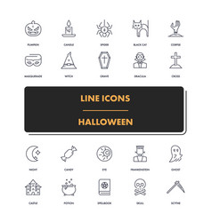 line icons set halloween 2 vector image