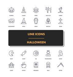 line icons set halloween 2 vector image vector image