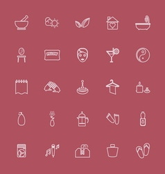 Massage line pink color icons vector
