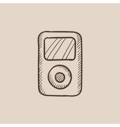MP3 player sketch icon vector image vector image