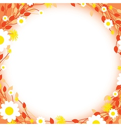 Orange floral edges vector