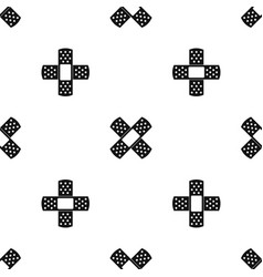 Patch pattern seamless black vector