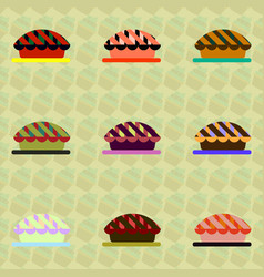 Pie set vector