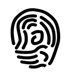 scan thumb icon on white background scan thumb vector image