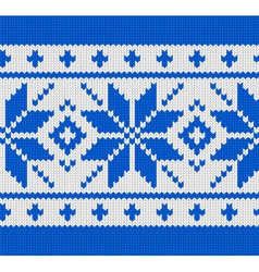 Skandinavian knitted pattern vector