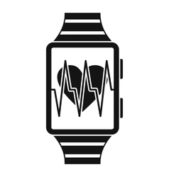 Smartwatch with sport app icon simple style vector image
