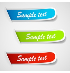 sticker labels vector image vector image