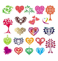 Template silhouette of the heart symbol of love vector
