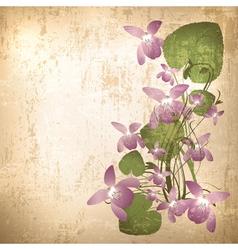 Vintage grunge floral background vector