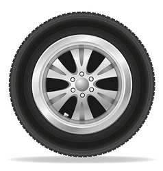 wheel for car 01 vector image vector image