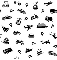 Seamless backdrop transport icons wrapping paper vector