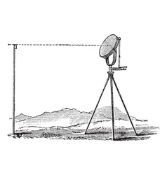 Heliograph vintage engraving vector