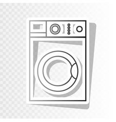 washing machine sign  new year blackish vector image
