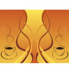 Two cups of hot coffee vector
