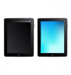 Tablet touch computer vector