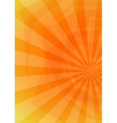 Summer Orange Background vector image