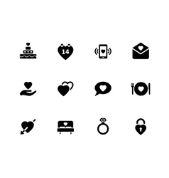 Love icons on white background vector