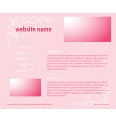 Pink website - template layered vector