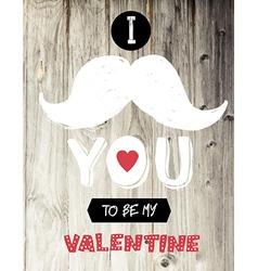 vintage valentines card design vector image