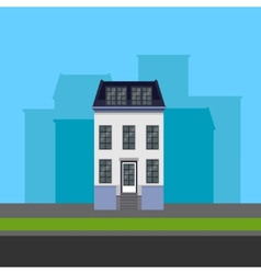 Townhouse in flat polygonal style vector