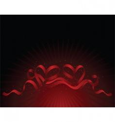 ribbon hearts vector image