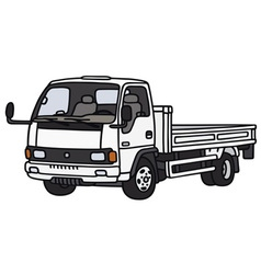 Small lorry truck vector