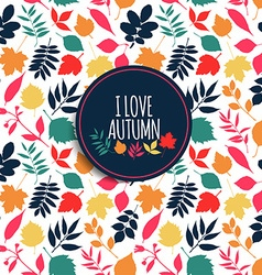 Autumn seamless pattern vector