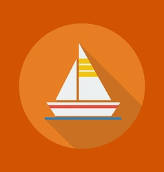 Travel flat icon sail boat vector