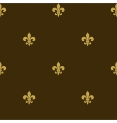 Seamless fleur de lis background vector