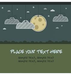 Moon and cloud decorations vector